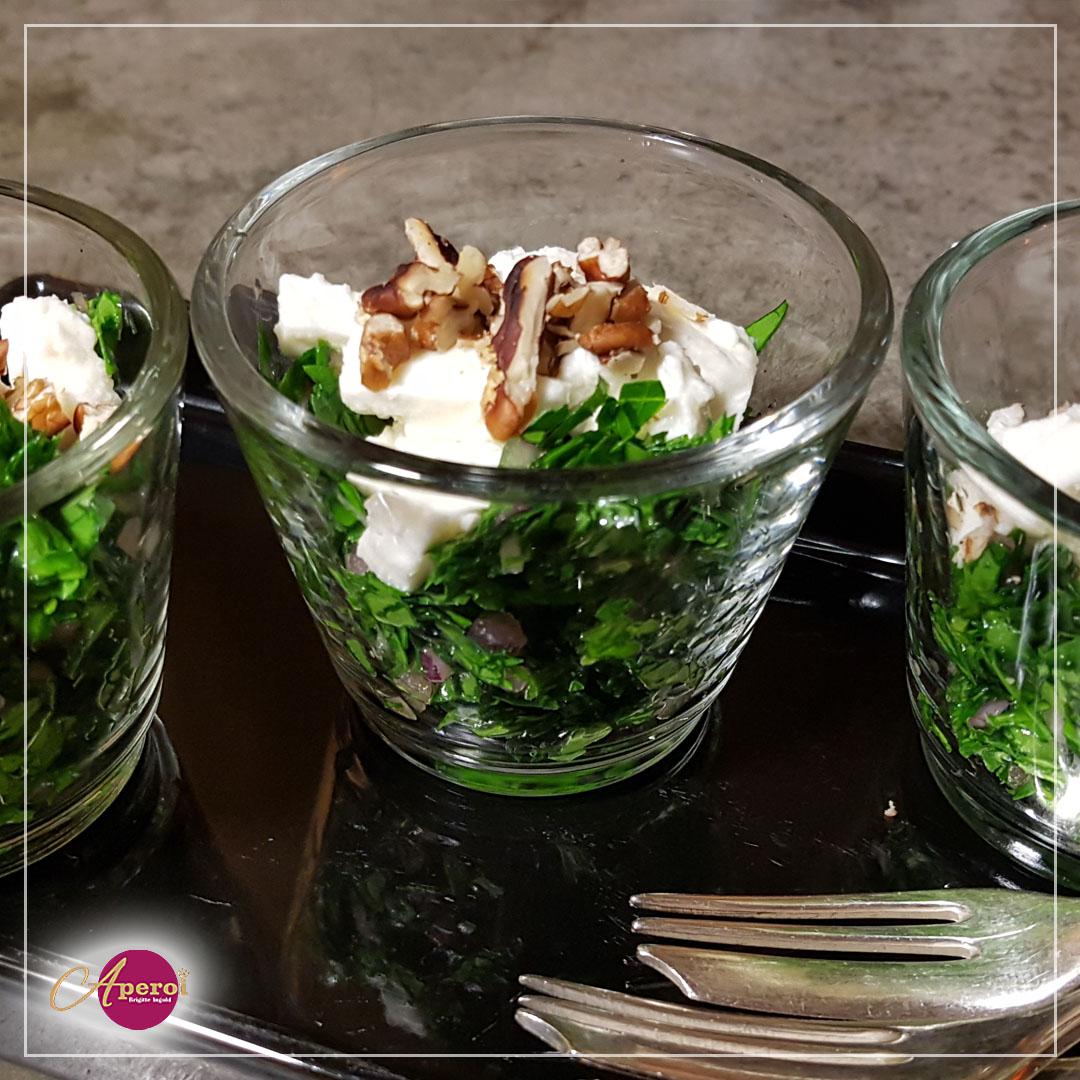 Salat im Gläschen, Fingerfood fürs Buffet
